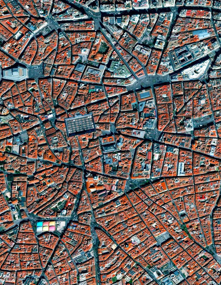 5/11/2017 La Latina Madrid, Spain 40.411495, -3.710983 La Latina is a neighborhood in the center of Madrid, Spain. The neighborhood was named after and old hospital of the same name that was founded in 1499. In this lower left of this Overview, you can also see the popular Mercado de la Cebada market, with its multi-colored rooftop. Source imagery: DigitalGlobe