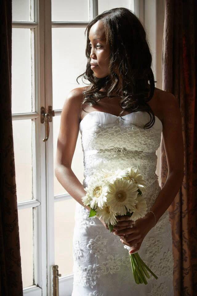 A beautiful bride in her Natalia Trisolino gown.  www.nataliatrisolino.com
