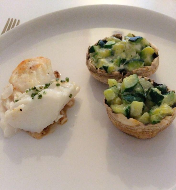 stuffed mushrooms - champignons farcis aux courgettes et fromage frais