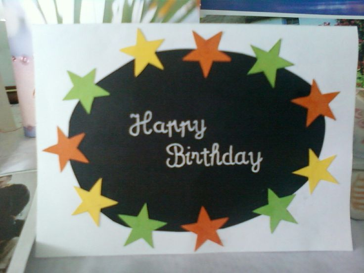 Happy birthday star card