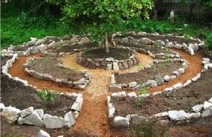 Building Keyhole Garden Step Step