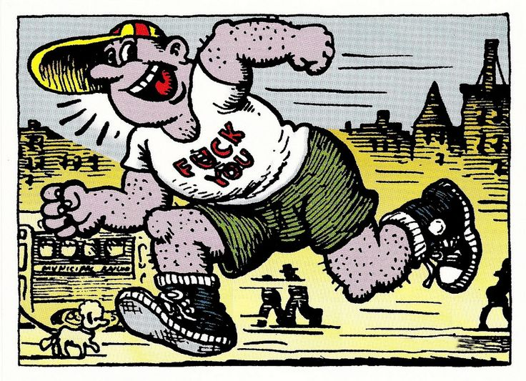 Little Johnny Fuckerfaster by Robert Crumb (underground comics)