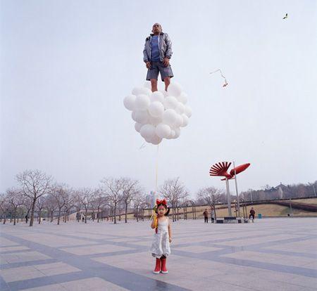 defying gravity, by liu wei. Art Experience:NYC http://www.artexperiencenyc.com/social_login
