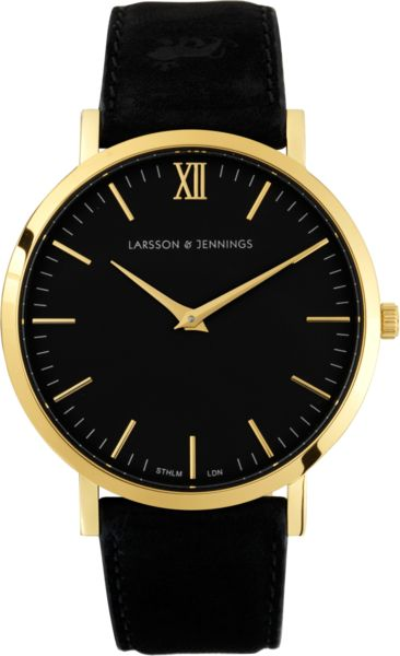 Larsson & Jennings / BLACK // A dedication to minimal design, the Lãder | Black celebrates classic British dress watch aesthetic. The clean lines of our signature classic watch face combine with a luxury black Italian leather strap to create the ultimate subtle and sophisticated fashion piece. // $321