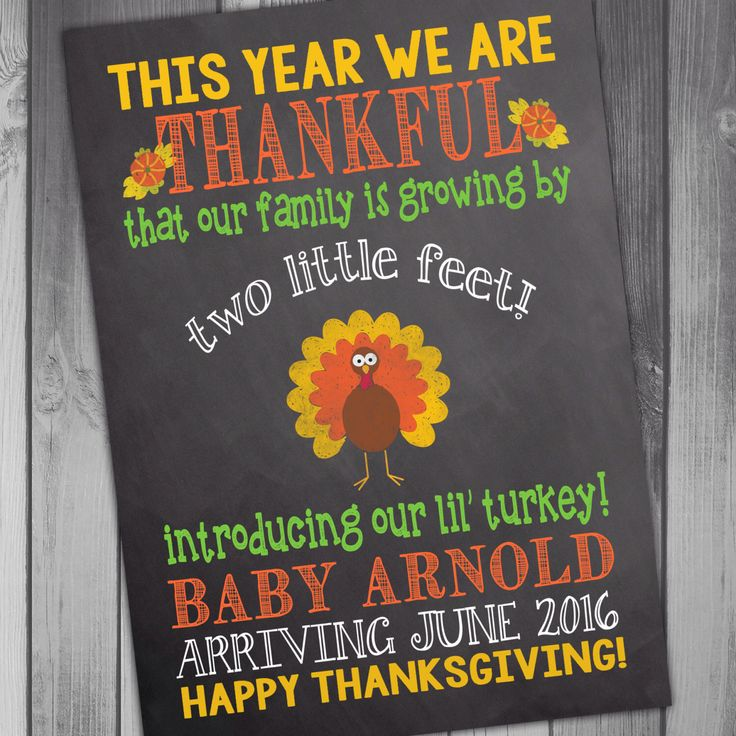 Pregnancy Announcement Baby Announcement We Are Expecting Thanksgiving Card Thankful For Funny Pregnancy Announcement Chalkboard Pregnancy by CLaceyDesign on Etsy https://www.etsy.com/listing/207498516/pregnancy-announcement-baby-announcement