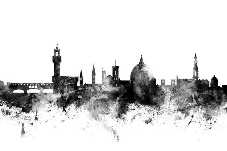 Florence Italy Skyline Digital Art