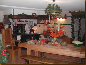 L'Hameau du Pere Noel--Santa's house in Mont Sion (Mount Zion), France. It's a fun place!