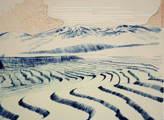 Serena Perrone.  Intaglio, monotype, silkscreen, letterpress.  2010