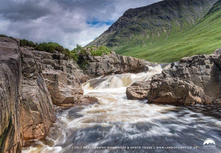 River Etive on the move in Glen Etive, Highlands, Scotland.