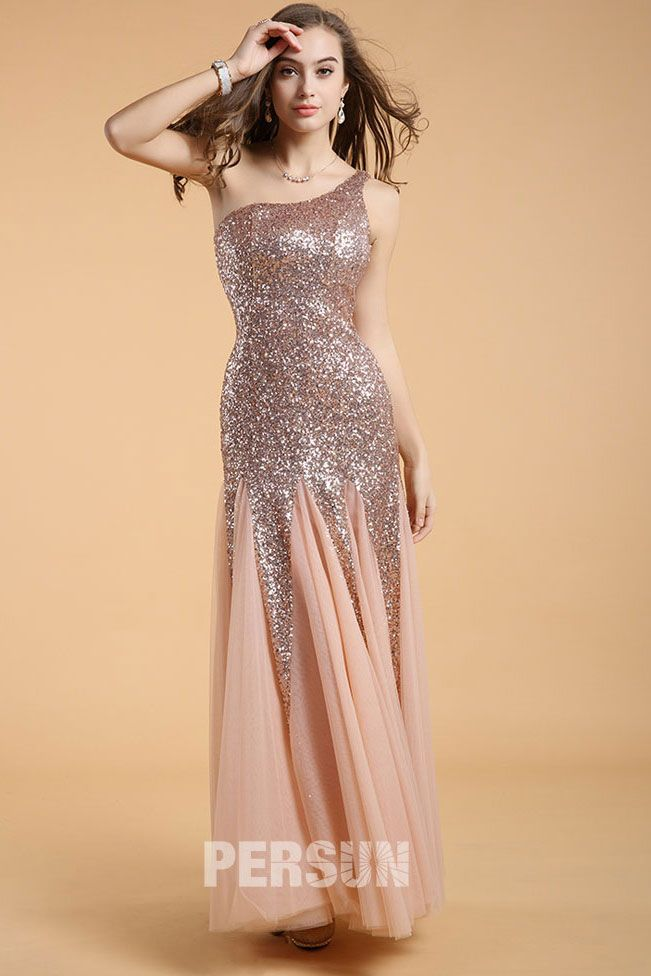 Gorgeous Sequin Prom Dress with one shoulder design [LC51302] - PersunMall.com