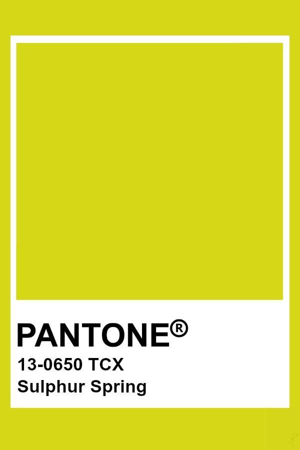 Pantone Sulphur Spring With Images Pantone Colour Palettes