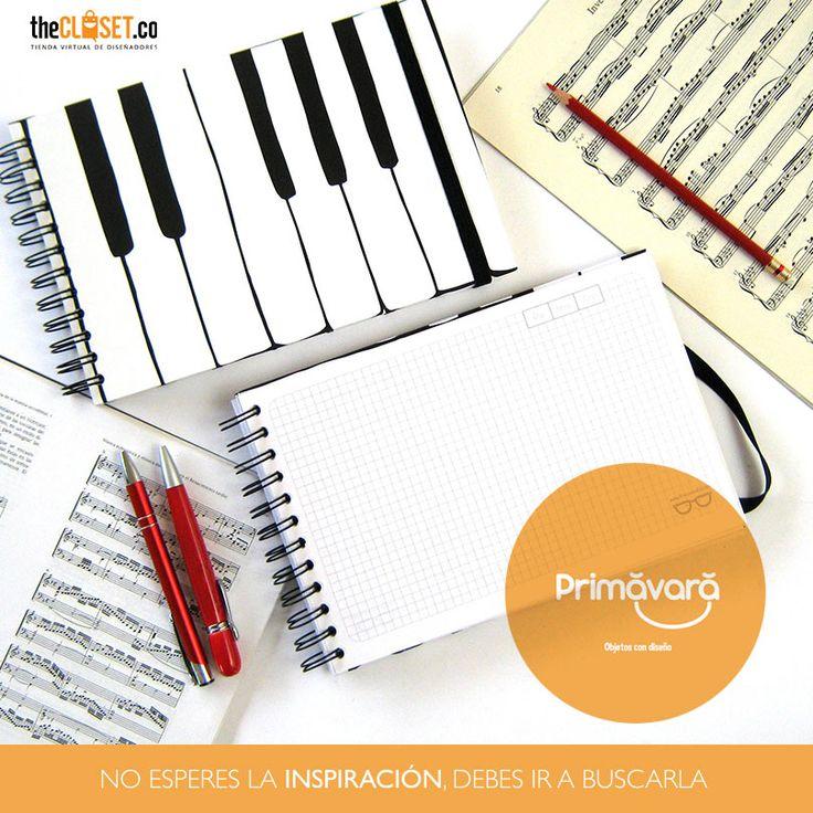 No esperes la inspiración, debes ir a buscarla. #agendas #cuadernos #libretas de la marca Primăvară para que explores tu creatividad. Encuéntralas en: http://thecloset.co/Primavara-objetos-con-dise%C3%B1o