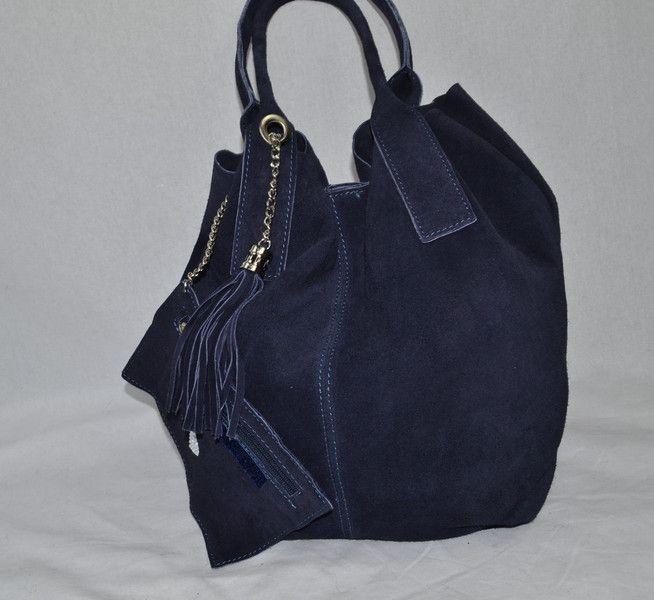 Sacs en cuir, Sac a main  en cuir  couleur bleu foncée  est une création orginale de Lanasvet sur DaWanda