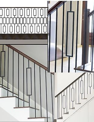 Best Details About Iron Balusters Iron Spindles Metal Stair Parts Hollow Satin Black Stair Railing 400 x 300