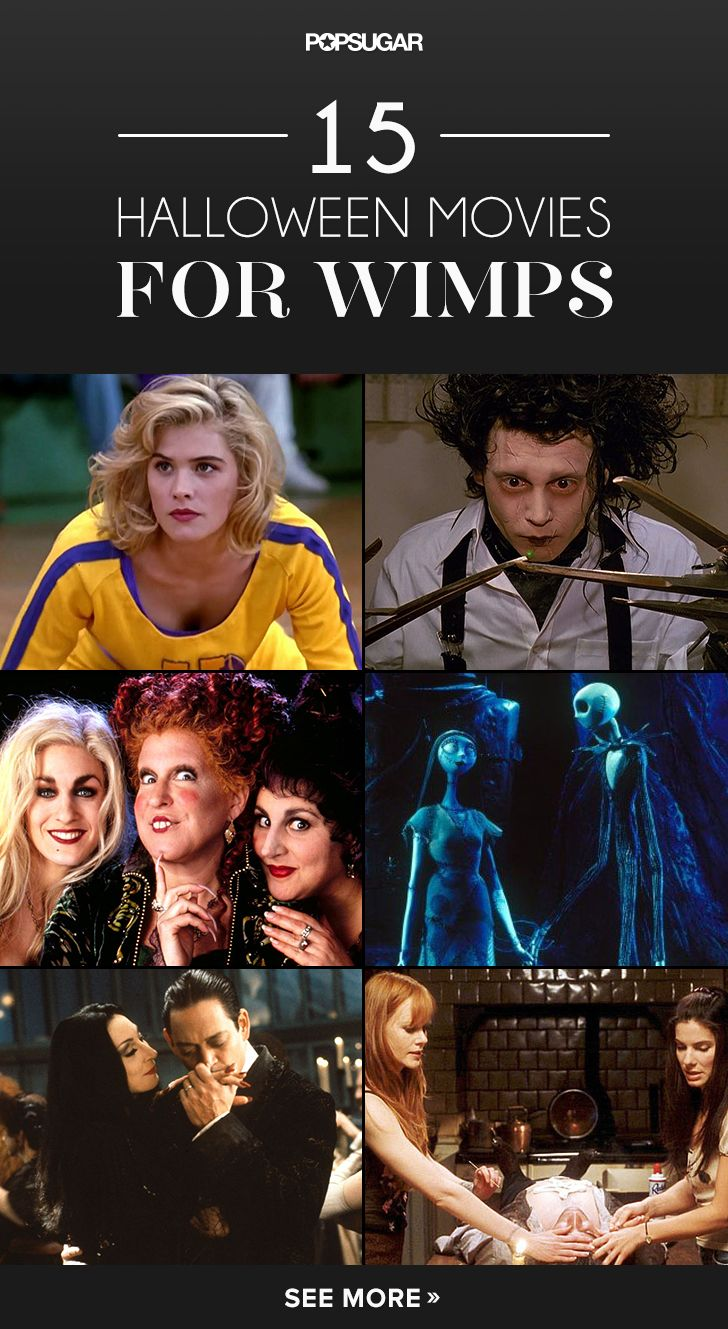15 Halloween Movies For Wimps...(I'm not a wimp about movies, but I like the idea of going for charm/theme rather than blood/gore).