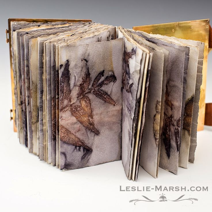 Leslie Marsh. (Going to use some of the gorgeous fall foliage and skeletons from my garden to create my own handmade linen paper journal. - Eve.) #AdventureDivas #EstrogenArmy #journals
