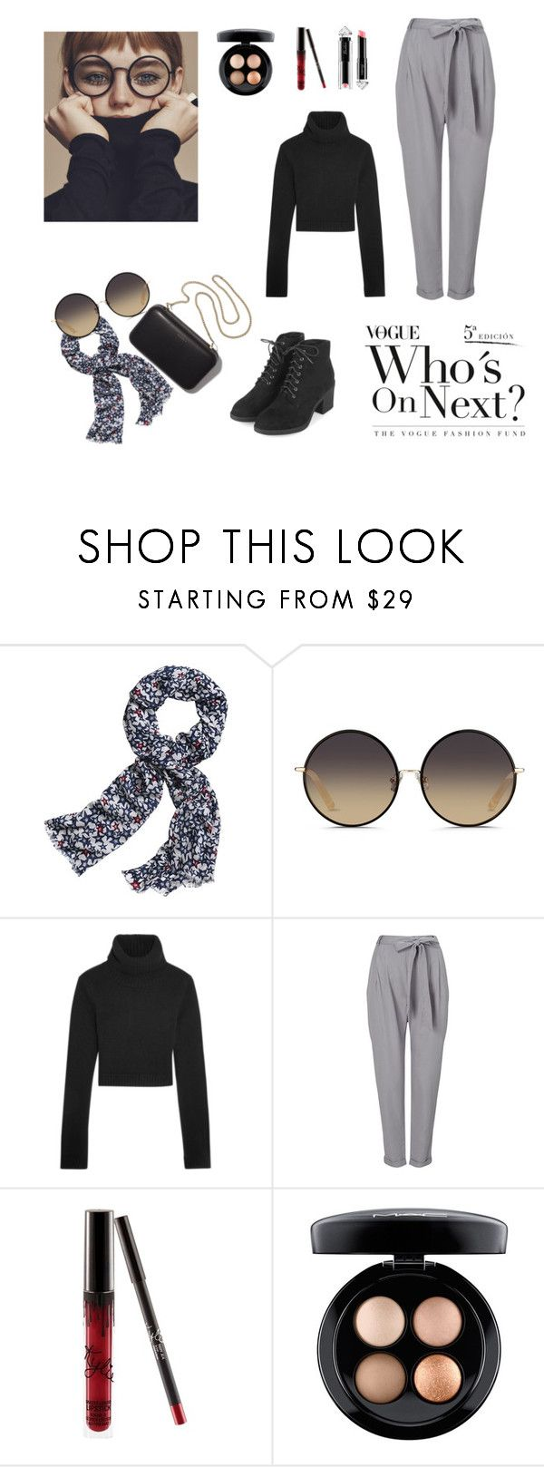 """""""vogue"""" by zahrohusna on Polyvore featuring Canvas by Lands' End, Matthew Williamson, Michael Kors, Phase Eight, MAC Cosmetics, La Petite Robe di Chiara Boni, Clare V., Topshop, stylish and glasess"""