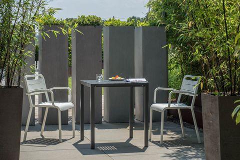 cast aluminium stackable chair   Urban chair by Samuel Wilkinson for Emu