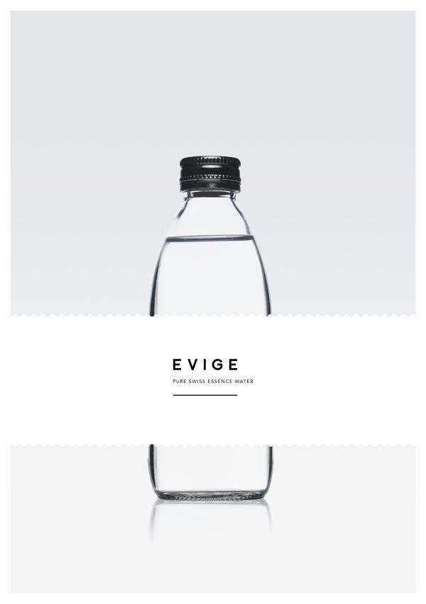 EVIGE Pure Swiss Essence Water on Behance