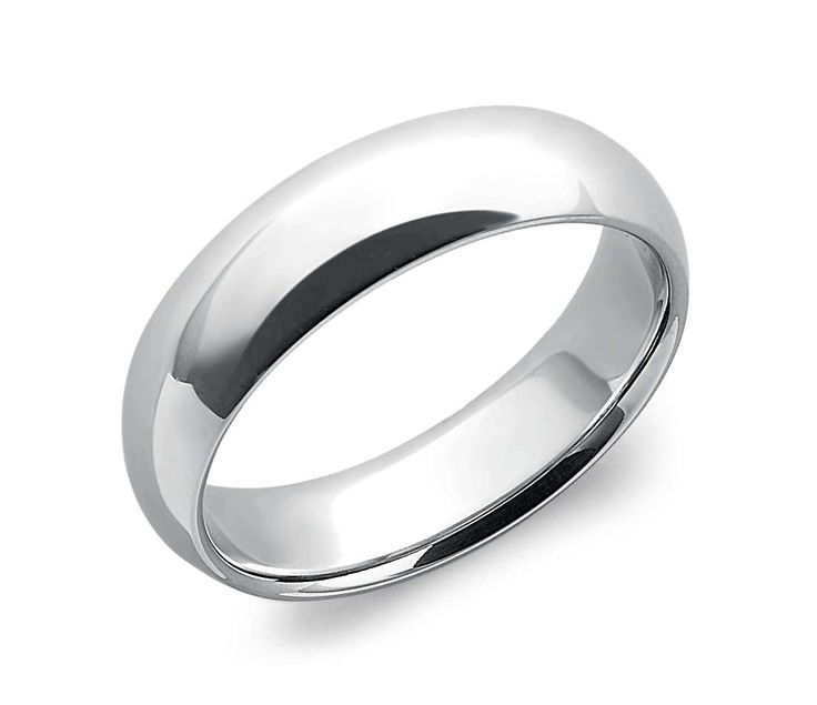 Comfort Fit Wedding Ring In Platinum #BlueNile #wedding