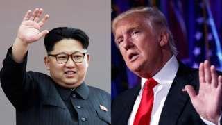 Image copyright                  AP                  Image caption                                      La relación entre Kim Jong-un y Donald Trump es una incógnita. Trump ha sido crítico del líder norcoreano pero también lo ha elogiado, y Kim Jong-un se ha mantenido en silencio tras la victoria de Trump.                                Es inusual, pero los