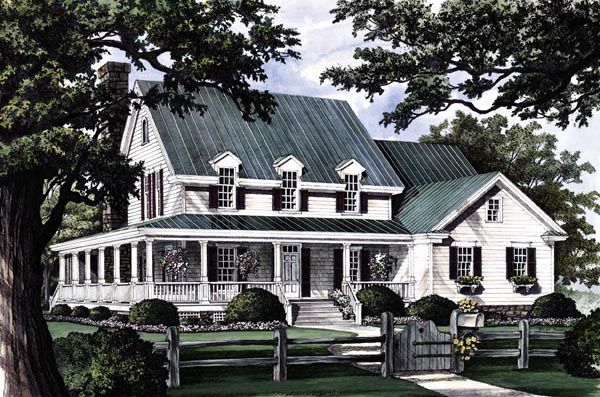 Country Farmhouse Southern House Plan 86162 House Plans