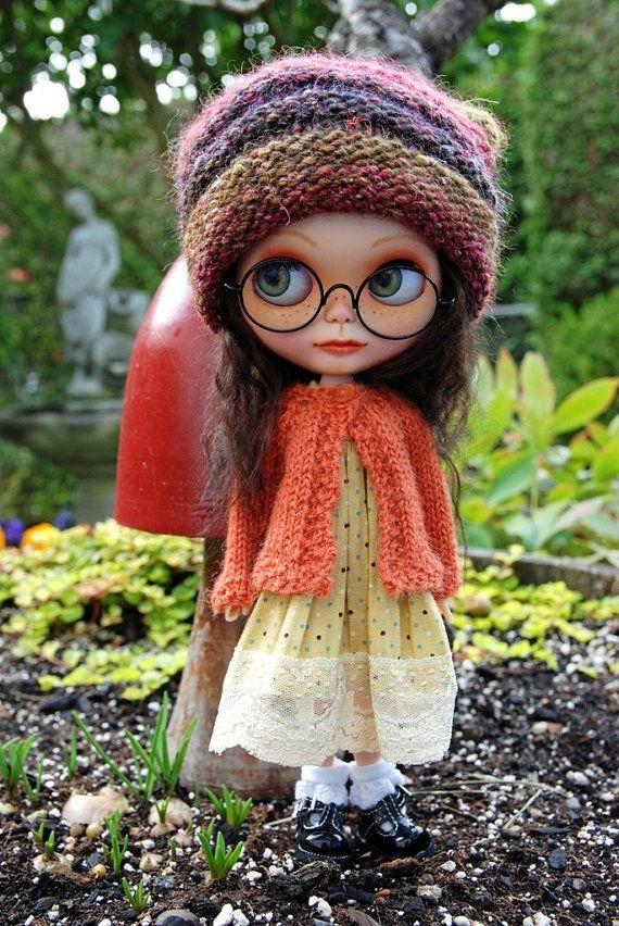 Blythe Puppe gestrickt Alpaka-Cardigan rustikale von AuntieShrews