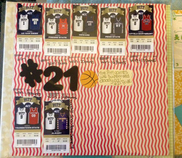 Our fav page !  Pitt basketball game stubs #21