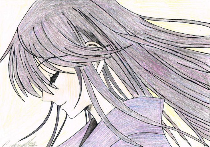Eba Yuzuki in a Yukata. Hand Drawn