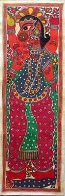 The Green Elephant: Indian Folk Art : Madhubani Paintings