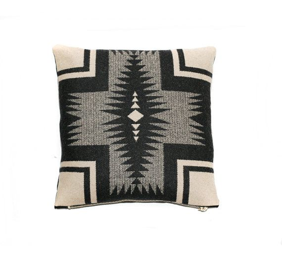 Cross Pillow cover made with genuine Pendleton fabric by RaisCase1, $50.00