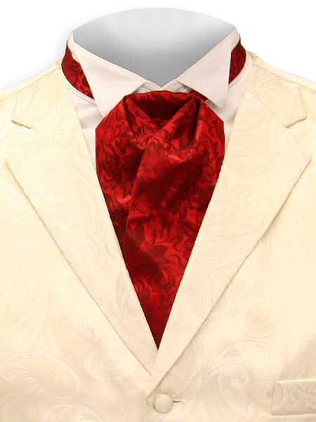 Silk Puff Tie - Red