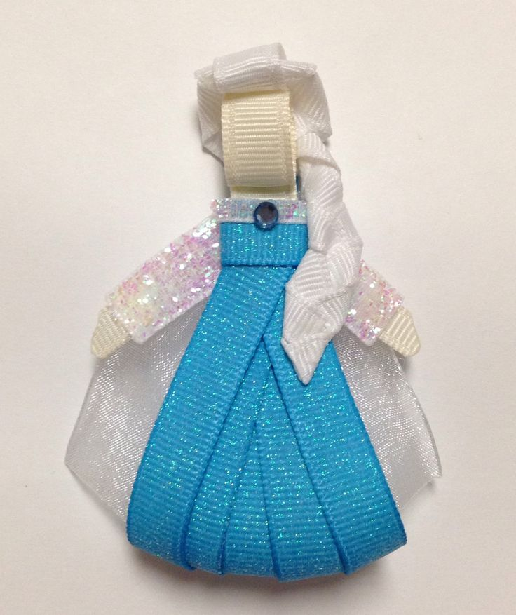 Frozen Queen Elsa Ribbon Sculpture Hair Clip by www.facebook.com/babybugwear