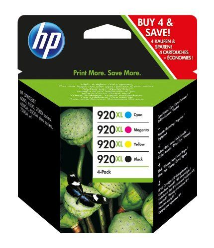 HP 920 Multipack Original Druckerpatronen (Schwarz, Blau, Rot, Gelb) f�r HP Officejet