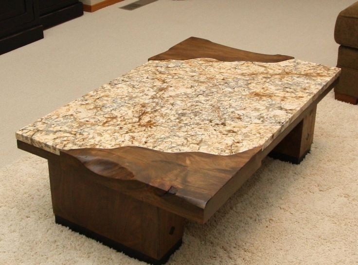 Granite top coffee table as your best solution house for Wood table top designs