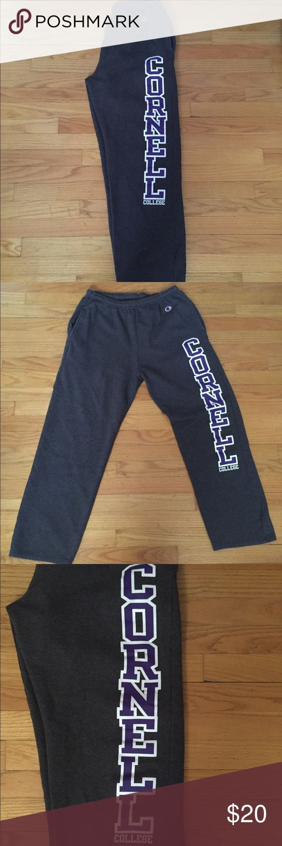 Cornell College Dark Gray Sweatpants They have been loved but they are in great condition!! Great for someone who wants to go or is considering Cornell College!! And the Champion brand means that they are well made and built to last!! Champion Pants Track Pants & Joggers
