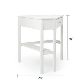 Simple Living Antique White Wood Corner Computer Desk - Free Shipping Today - Overstock.com - 13685883 - Mobile
