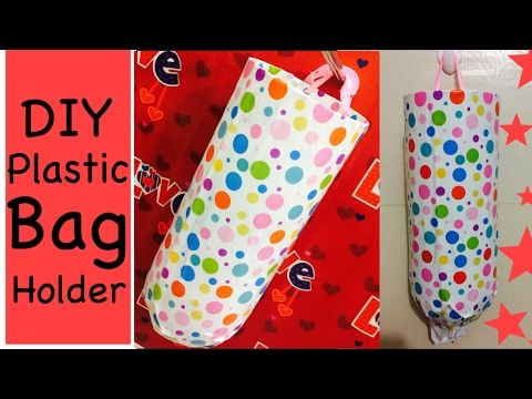 DIY Plastice/grocery bag holder Easy and inexpensive | organize you kitchen | Recycle Plastic bottle - YouTube