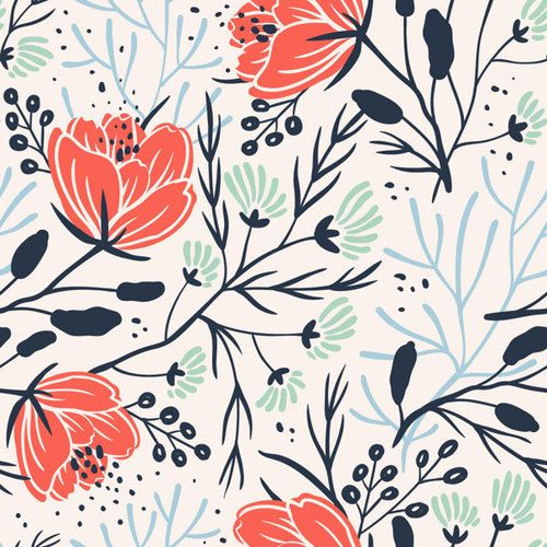 Floral pattern by Anna Aniskina 961 best Pattern images on Pinterest  patterns
