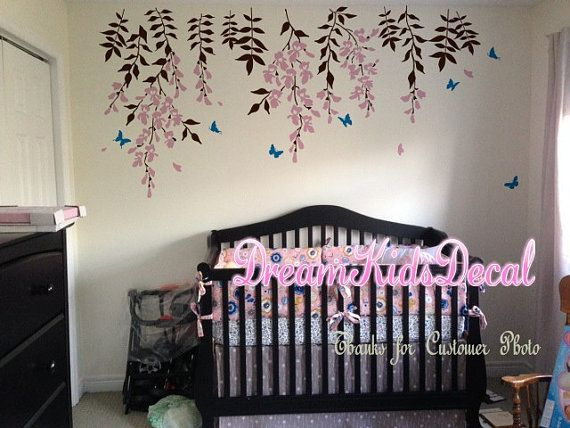 Best Flower Wall Decals Images On Pinterest Flower Wall - Nursery wall decalswall stickers for nurseries rosenberry rooms
