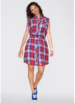 Платье-рубашка, RAINBOW, красный/синий в клетку