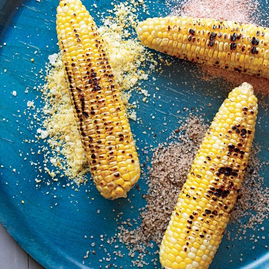 Corn on the Cob with Seasoned Salts // More Great Grilled Corn: http://www.foodandwine.com/slideshows/grilled-corn #foodandwine