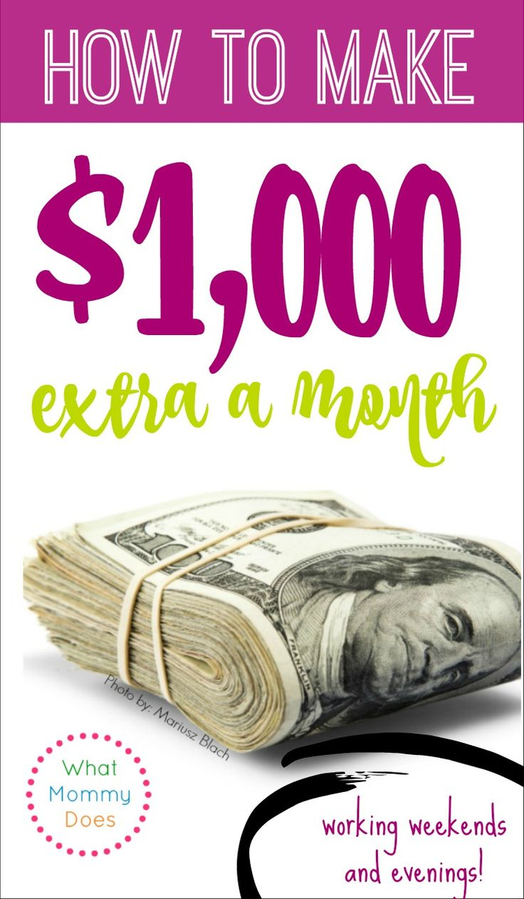 An extra $1000 would be amazing!! I need a new way make extra cash on the side from home. I've been selling stuff online for a while, but I need something else to bring in money in my free time on nights and weekends. Right when you need cash is the worst time to be trying to figure this stuff out so I'm trying to be proactive. This girl has lots of great tips. This post is part of a money making ideas series you HAVE to see!