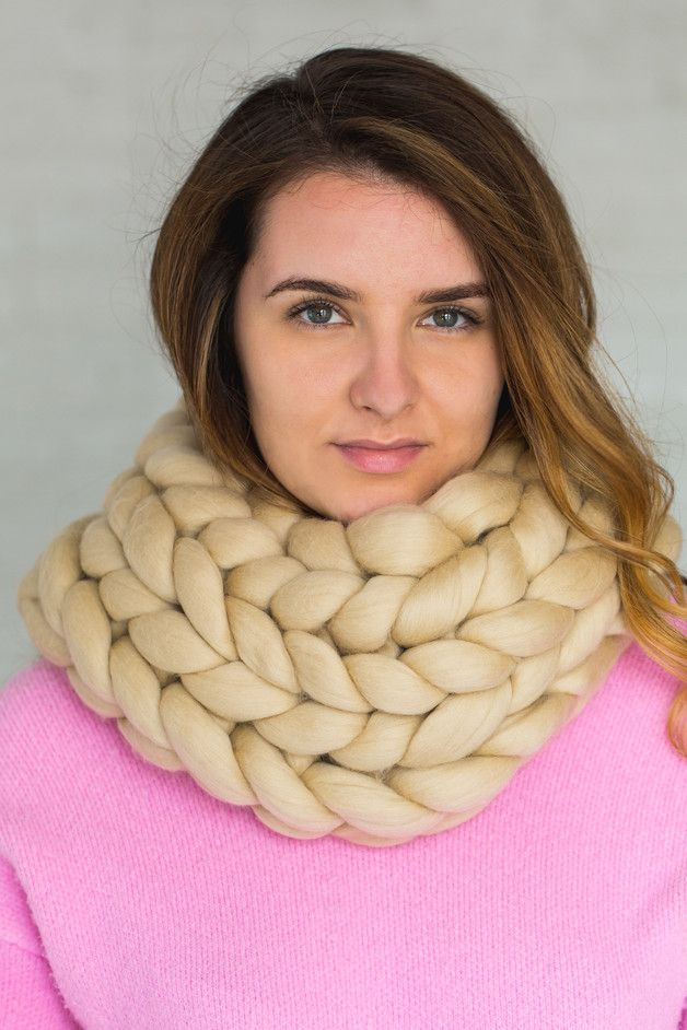 Stay warm and stylish with our superfine Woollish scarfs and snoods!  Thick merino wool yarn is extremely warm and soft so this cowl suits for even very cold weather.   Product Care:  Our...