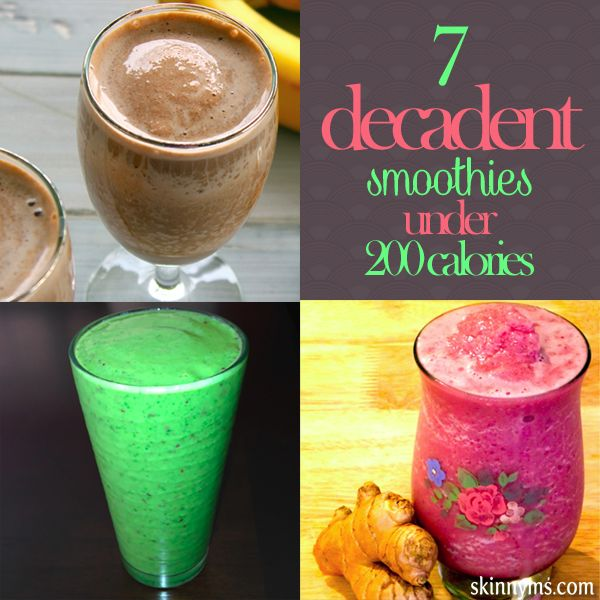 7 Decadent Smoothies Under 200 Calories #smoothierecipes