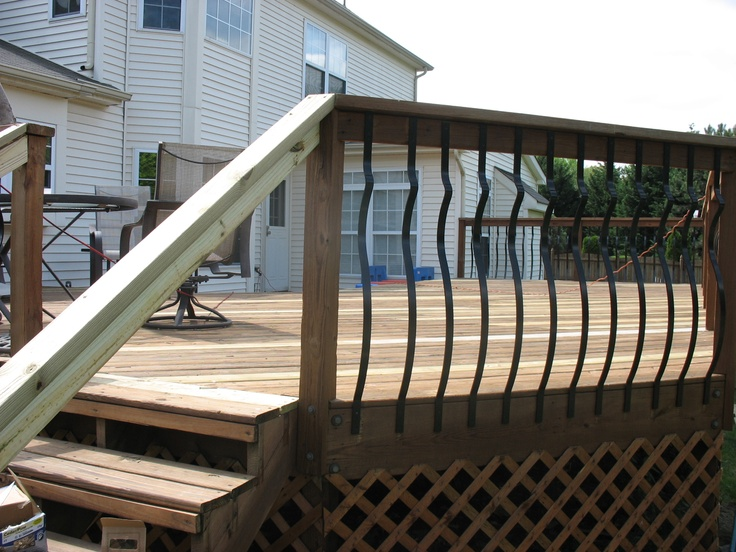 decorative deck spindles hardwood deck railings with. Black Bedroom Furniture Sets. Home Design Ideas