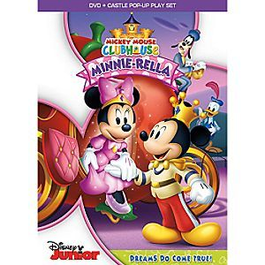 Mickey Mouse Clubhouse Minnie-Rella DVD + Castle Pop-Up Play Set   Disney Store  Mouseke-magic meets storybook enchantment in <i>Minnie-Rella</i>, a charming <i>Mickey Mouse Clubhouse</i> adventure inspired by your favorite fairytale!