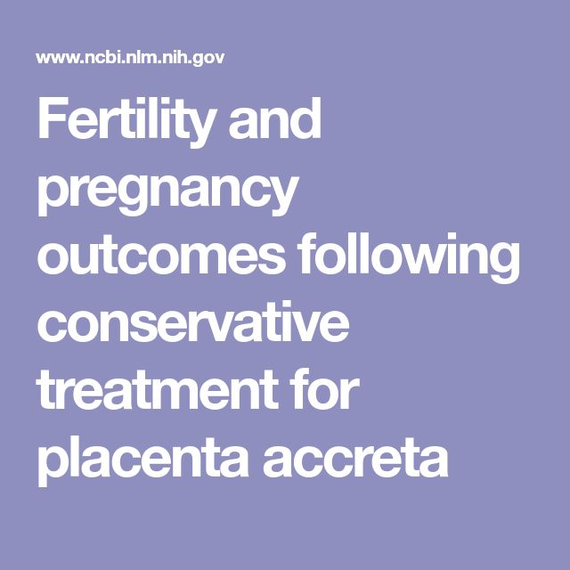 Fertility and pregnancy outcomes following conservative treatment for placenta accreta