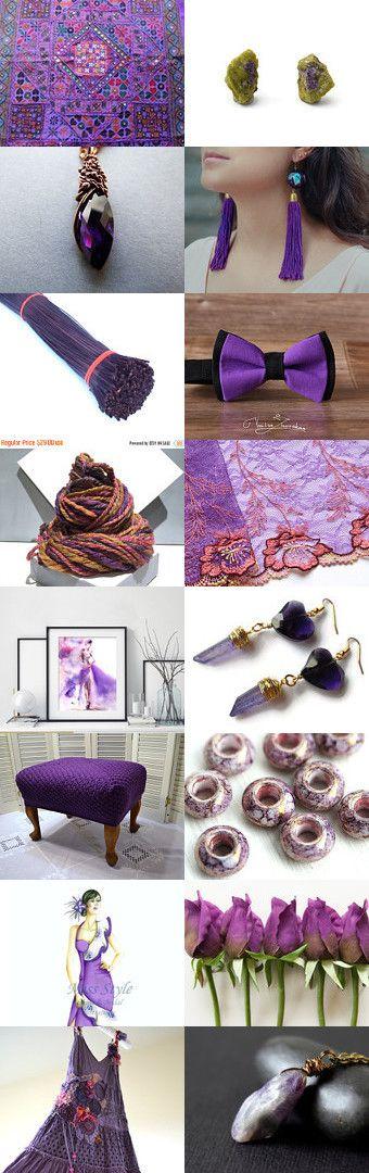 Purple Madness ~~~~~~~ by Hana Kukol on Etsy--Pinned+with+TreasuryPin.com