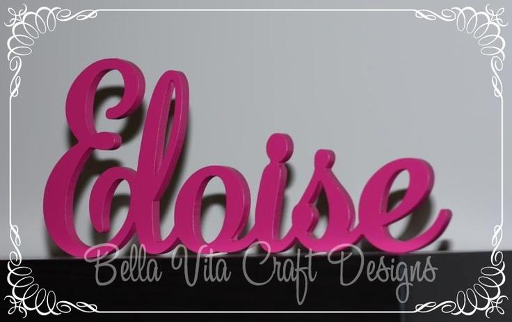 Name plaques  from Bella Vita Craft Designs